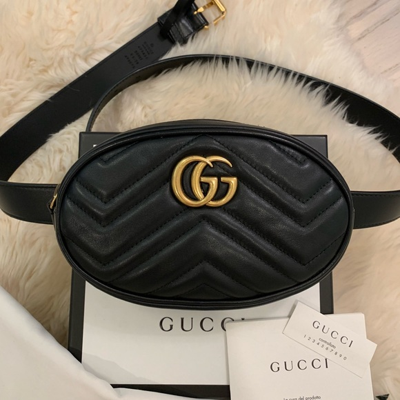 08661d43eacd Gucci Handbags - Gucci GG Marmont Matelassé Leather Belt Bag 95-38